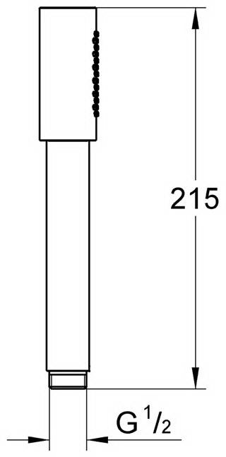 чертеж душа GROHE Sena 28034. купить душ гроэ сена.