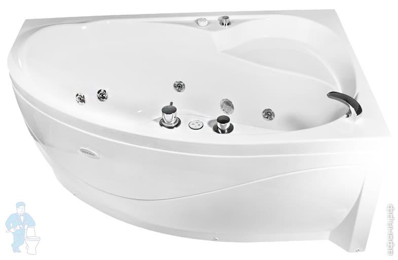 Акриловая ванна Radomir Амелия Комфорт Luxe левая лира мебель для ванной