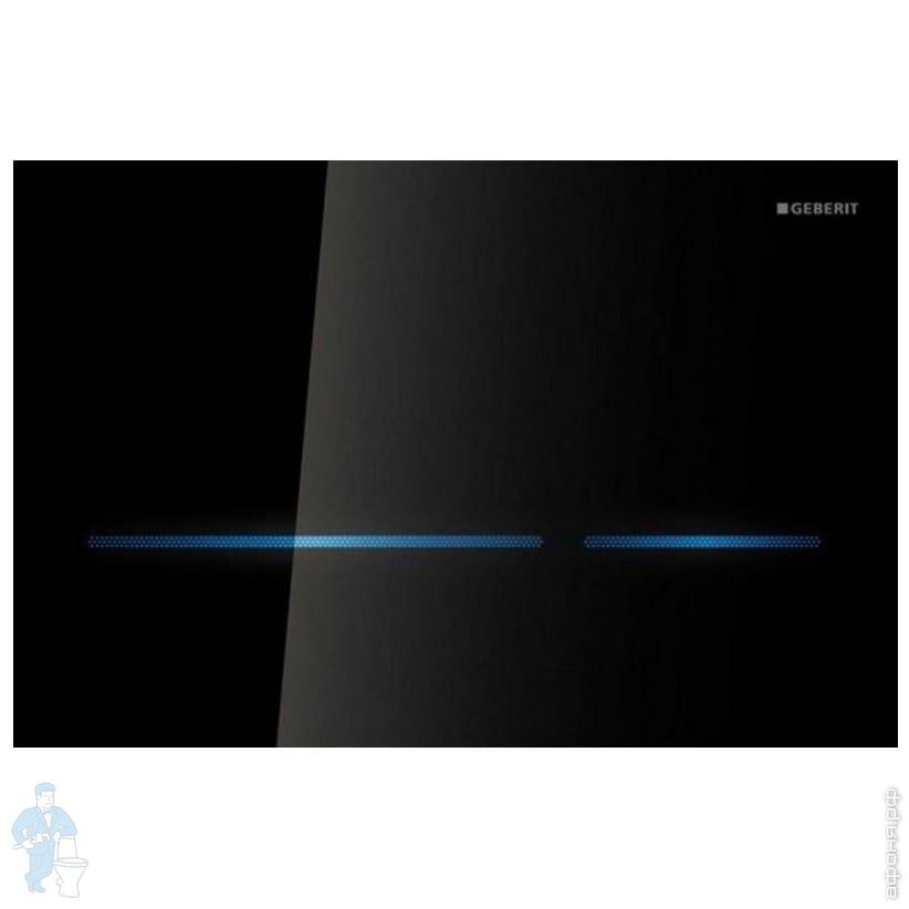 GEBERIT Sigma80 Клавиша смыва, бесконтактная, для бачка 8см, черное стекло 116.092.SG.1 | Афоня.рф, цена 89 059 руб.