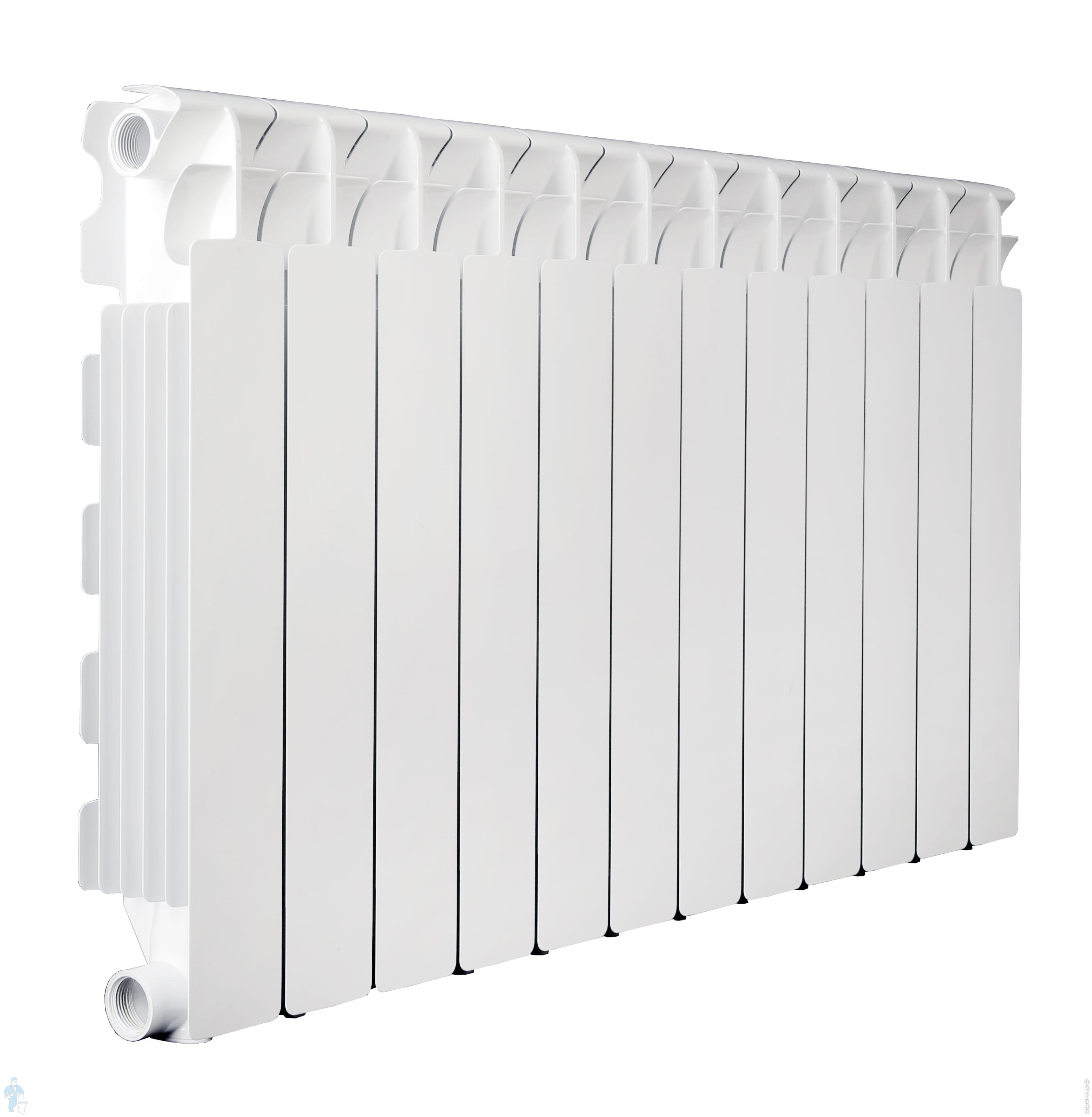 Радиатор алюминиевый Fondital Aleternum B4 500/100 (97х558) белый 12 секций, 2290,8 Ватт | Афоня.рф, цена 14 208 руб.