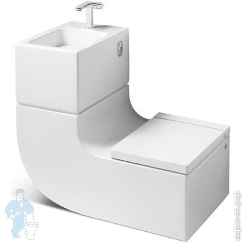 Roca W+W Унитаз+умывальник со смесителем (860х500х760) белый 893020001   Афоня.рф, цена 423 862 руб.