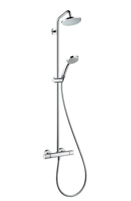 Душевая система Hansgrohe Croma 160 Showerpipe с термостатом, стойка 90 см,держатель 27см,хром 27135 | Афоня.рф, цена 40 610 руб.