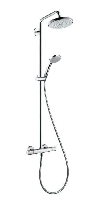Душевая система Hansgrohe Croma 220 Showerpipe 27185000 с термостатом,поворотн. держатель 400мм,хром | Афоня.рф, цена 54 730 руб.
