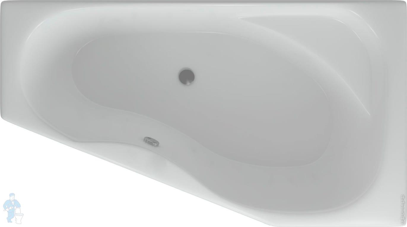 Ванна акриловая Акватек МЕДЕЯ 170х95 правая с каркасом | Афоня.рф, цена 21 971 руб.