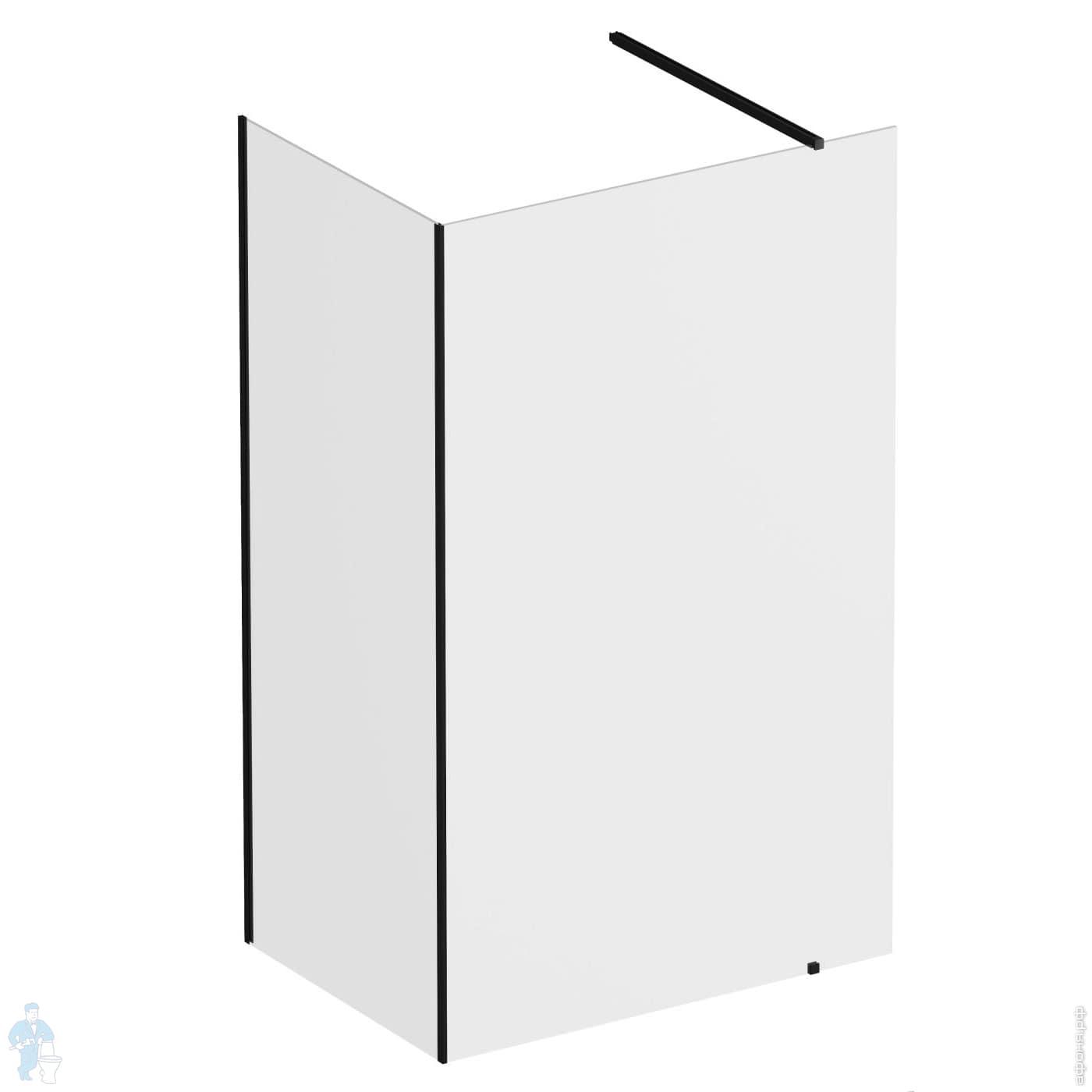 Душевой уголок RAVAK WALK-IN CORNER (1100х800х2000) стекло, черный+Transparent   Афоня.рф, цена 37 315 руб.