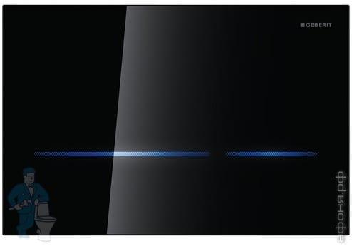 GEBERIT Sigma80 Клавиша смыва, бесконтактная, для бачка 12см, черное стекло 116.090.SG.1   Афоня.рф, цена 87 120 руб.