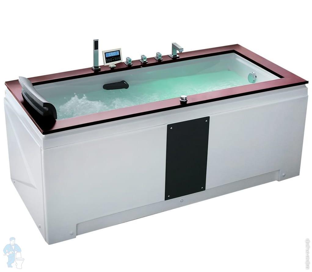 *Гидромассажная угловая ванна Gemy G9057-II K R (1865х915х800) аэромассаж, хромотерапия | Афоня.рф, цена 120 000 руб.