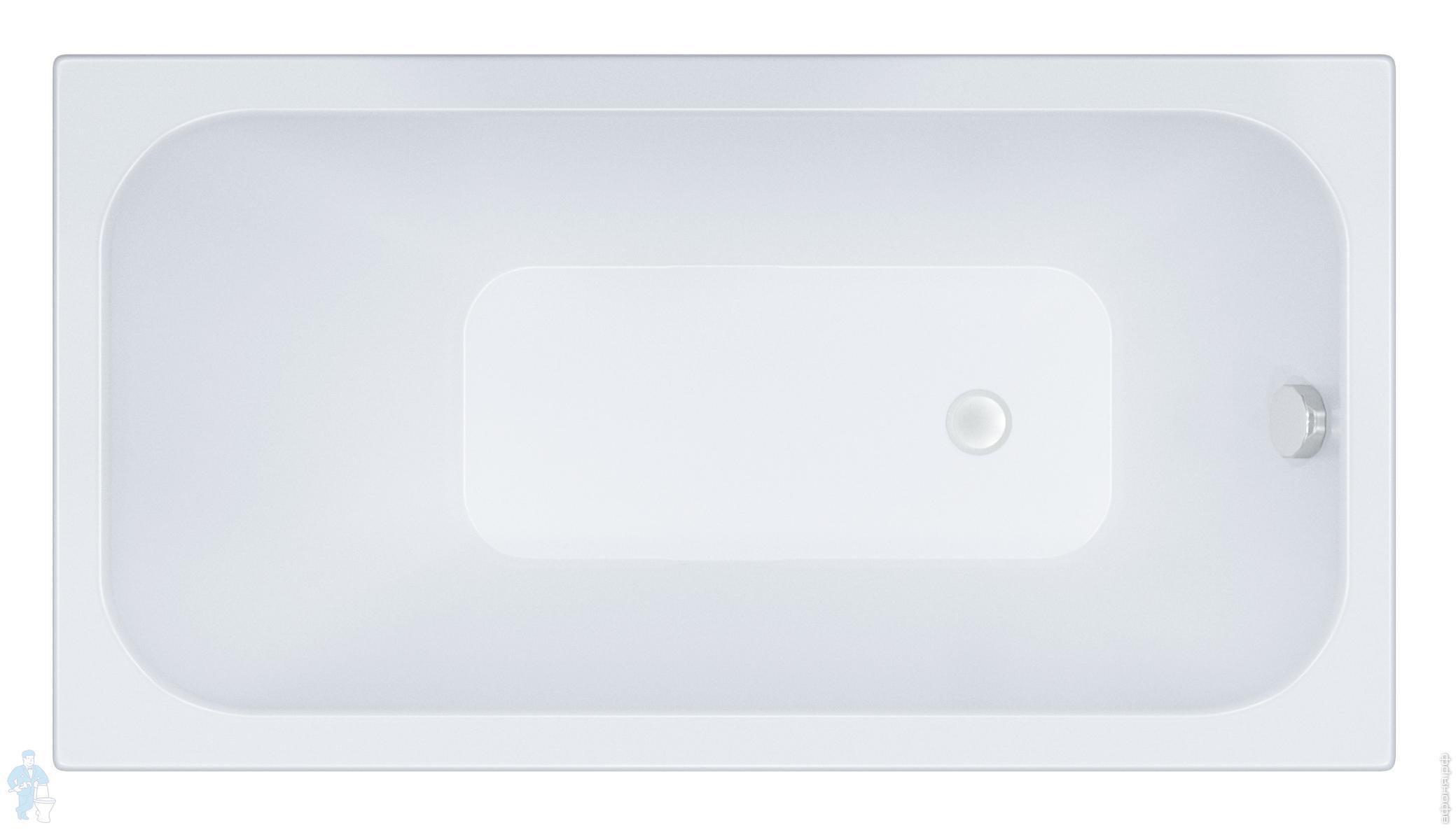 Ванна акриловая Triton Ультра (1300х700) без каркаса, со сливом-переливом | Афоня.рф, цена 4 520 руб.