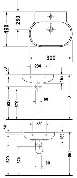1 готовое отверстие под смеситель, 2 дальнейших возможны (укажите при заказе) .