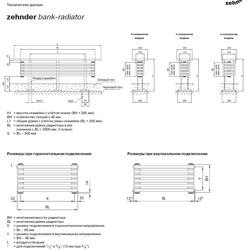 Радиатор Zehnder Bank-Radiator