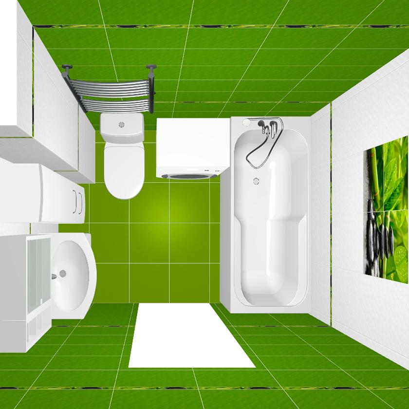 зеленая-ванная