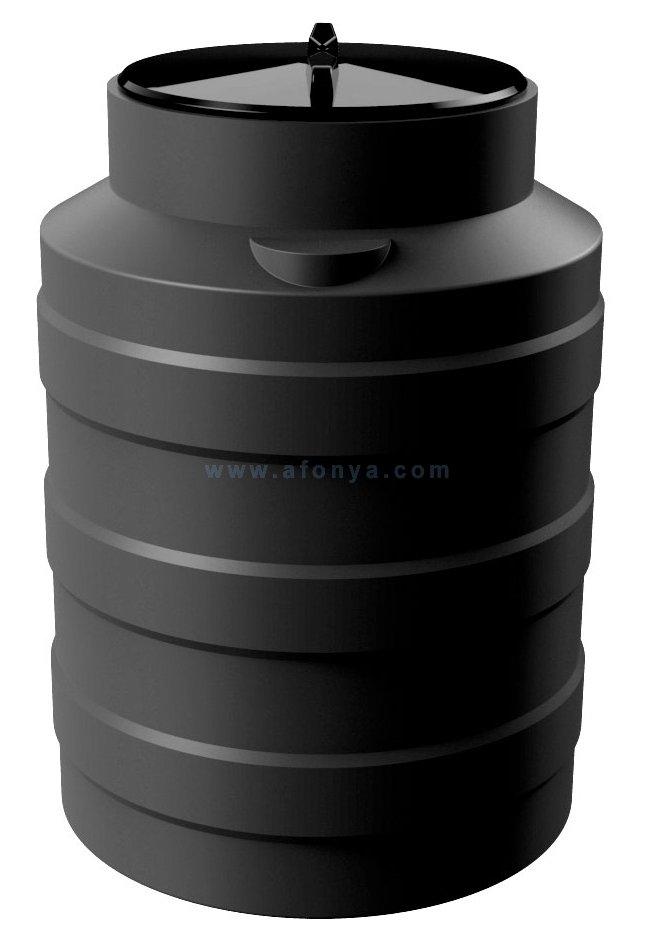 Емкость Polimer Group V-100 (700х490) 100л, цилиндрическая, вертикальная, черная