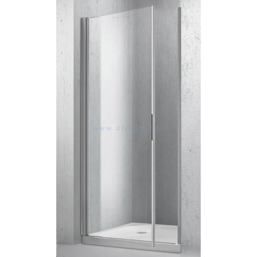 Дверь в нишу BELBAGNO SELA (800x1900) SELA-B-1-80-C-Cr 1 распашная, стекло прозрачное/профиль хром