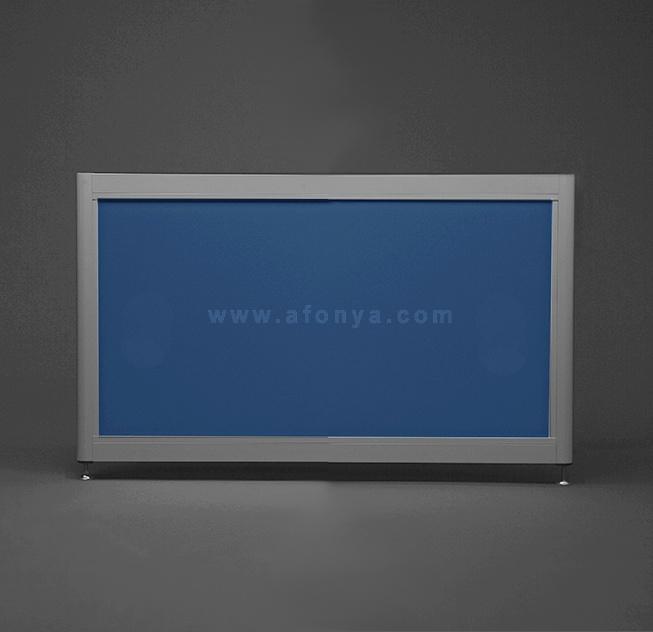 Экран под ванну боковой A-SCREEN голубой 700х500-650 серый профиль