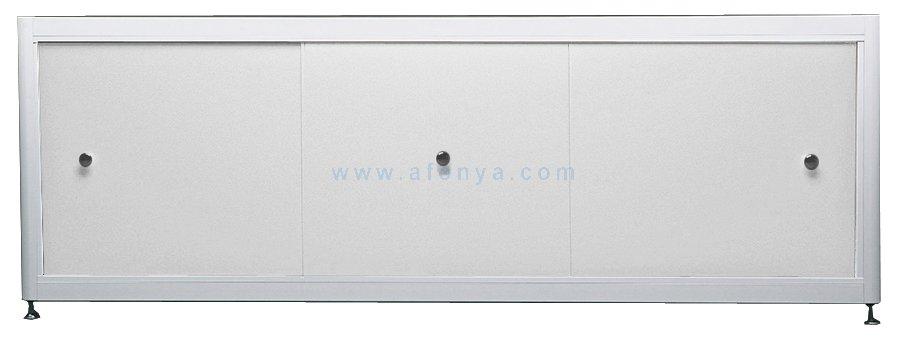 Экран под ванну A-SCREEN белый глянцевый (композит) 1700х500-650 белый профиль, 3 дверцы