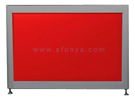 Экран под ванну боковой A-SCREEN красный 700х500-650 серый профиль