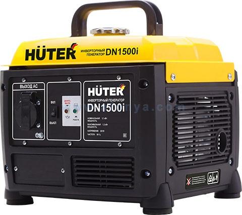 Инверторный генератор Huter DN1500i, 1,1кВт, бензиновый