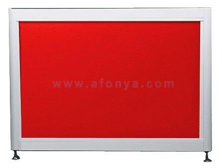 Экран под ванну боковой A-SCREEN красный 900х500-650 белый профиль