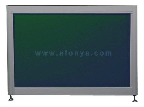 Экран под ванну боковой A-SCREEN зеленый 700х500-650 серый профиль