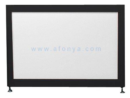 Экран под ванну боковой A-SCREEN белый глянцевый (композит) 700х500-650 черный профиль