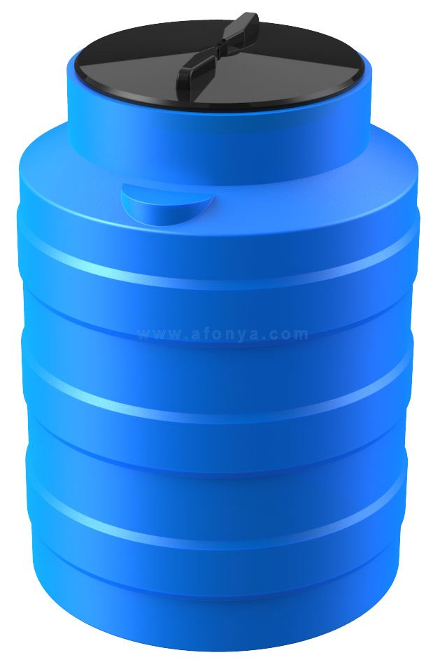 Емкость Polimer Group V-100 (700х490) 100л, цилиндрическая, вертикальная, синяя