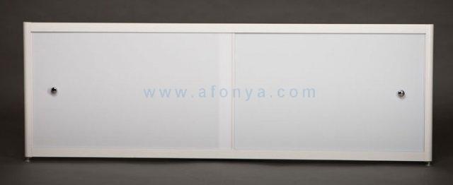 Экран под ванну A-SCREEN белый глянцевый (оргстекло) 1300х500-650 белый профиль, 2 дверцы