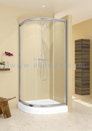 Уголок душевой RIHO HAMAR GR32200 (800х800х1950) полукруглый, профиль хром/стекло прозрачное 6мм