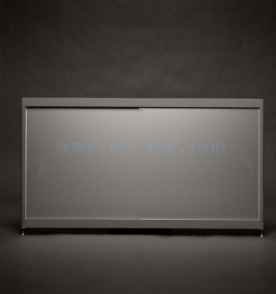 Экран под ванну боковой A-SCREEN алюминий 700х500-650 серый профиль